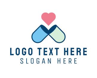 Pill - Love Pill logo design