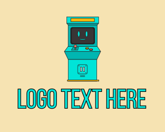 Slot Machine - Gaming Arcade Machine logo design