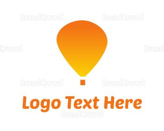 Discover - Orange Balloon logo design