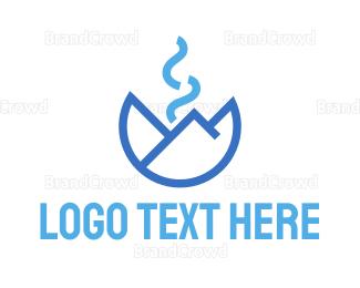 Everest - Abstract Smoky Mountain logo design