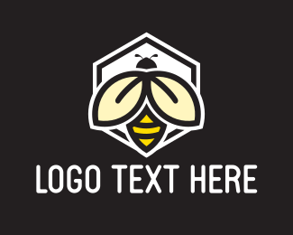 Bumblebee - Bee Honeycomb logo design