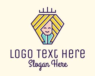 Youngster - Jolly Princess  logo design