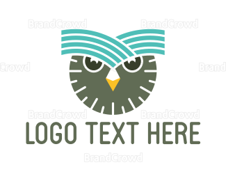 Aviary - Clock Owl logo design