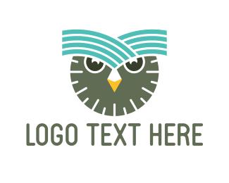 Wise - Clock Owl logo design