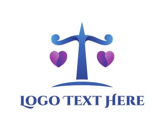 Attorney And Legal Love Scale logo design