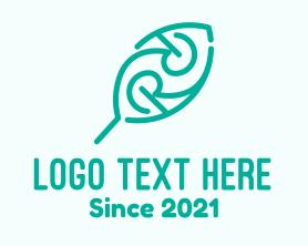 Text - Green  Leaf Letter R logo design