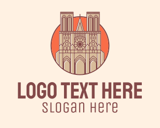 Tourist Attraction - Notre Dame Church logo design