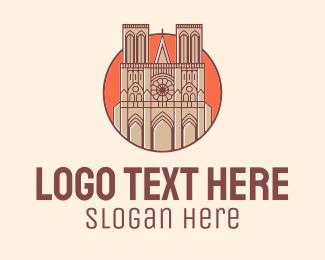 Church - Notre Dame Church logo design