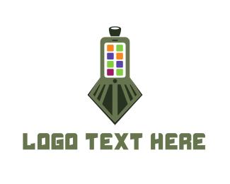 Train - Train Application logo design
