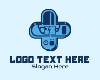 Health Care Worker - Cross Medical Tech logo design