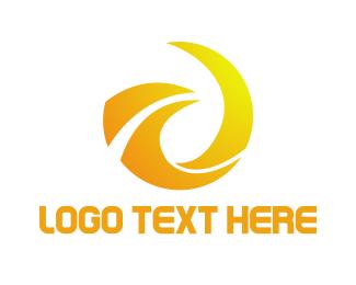 Radiator - Abstract Flame Bird logo design