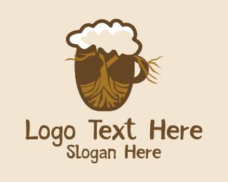 Root - Root Beer Mug logo design