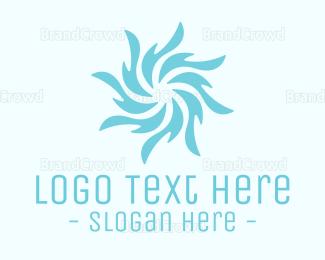 Aqua - Blue Whirpool logo design