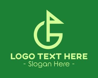 Golfer - Modern Golf Flag Letter G  logo design