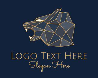 Class - Geometric Beast Head  logo design