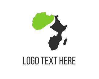 Zulu - Buffalo & Africa logo design