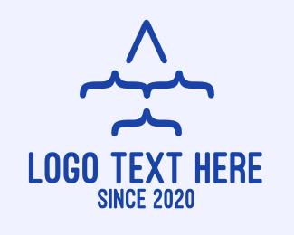 Air - Plane Code logo design