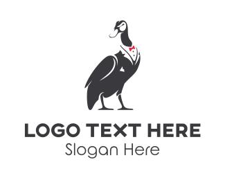 Suit - Fashion Duck logo design