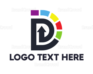 Whirl - Colorful Twirl D logo design