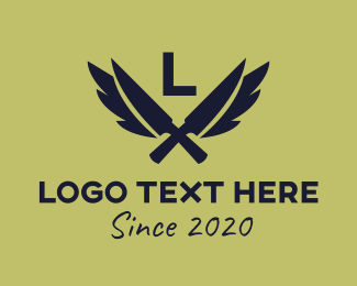 Army - Army Knives Lettermark logo design