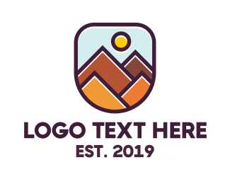 Hiking - Geometric Rocky Mountain logo design