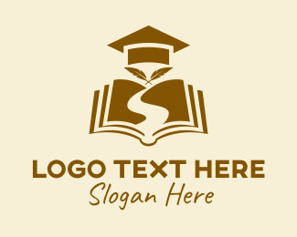 Learning - Education Graduate Book  logo design