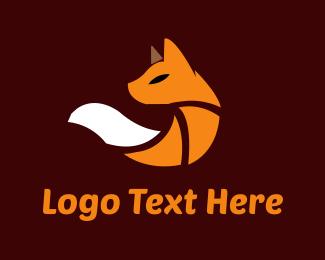 Fox - Cute Orange Fox logo design