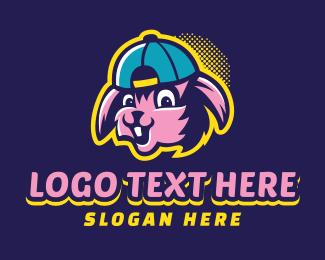 Joy - Happy Rabbit Cap logo design