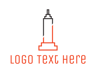 New York City - Abstract Empire State logo design