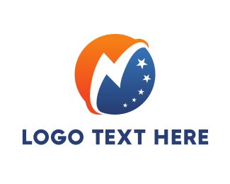 Orange Man - Thunder Globe logo design