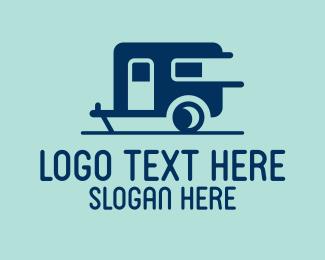 On The Go - Modern Trailer Home logo design
