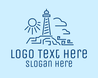 Sailors - Minimalist Lighthouse logo design