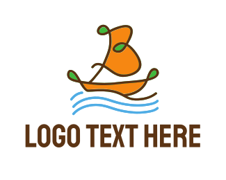 Boating - Ocean Sailboat logo design