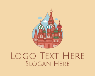 Traveling - Russia Moscow Church  logo design