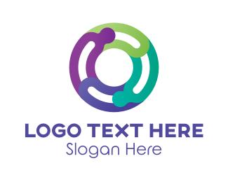 Multicolor - Multicolor Letter O logo design