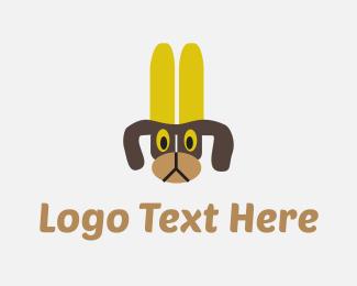 Dog Walker - Banana Dog logo design