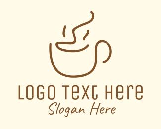 Roasted - Simple Happy Coffee Mug logo design