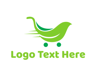 Trolley - Leaf Trolley logo design