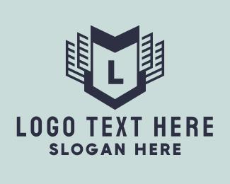 Lettermark - Realty Lettermark Shield logo design