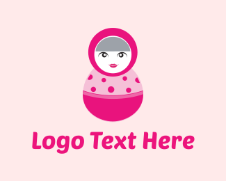 Russian - Pink Matryoshka Doll logo design