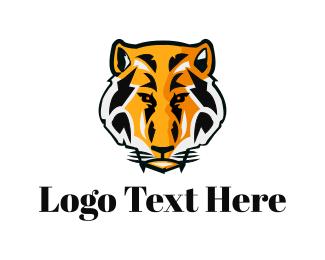 Jaguar - Tiger Head logo design