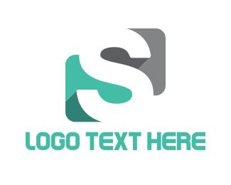Negative Space - Negative Space Letter S logo design