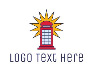 Communication - London Phone Booth logo design
