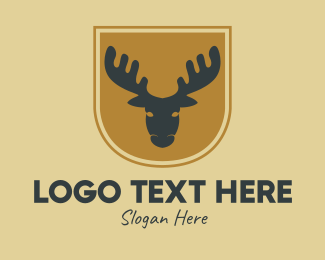Woodland - Rustic Deer Vintage logo design