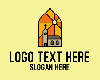 Stained - Church Sunlight Mosaic  logo design