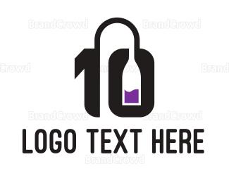 Draft - Number 10 Winery logo design