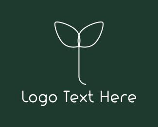 Easy - White Sprout logo design