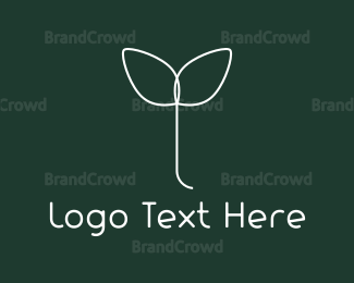 Sprout - White Sprout logo design