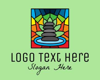 Wellness Center - Multicolor Spa Mosaic logo design