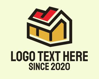 Residential - Residential Geometric House logo design